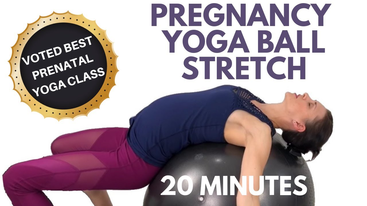Pregnancy Yoga Ball Stretches Youtube