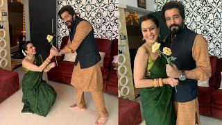 Kamya Punjabi went down on knees to propose husband Shalabh Dang before he leaves for Delhi