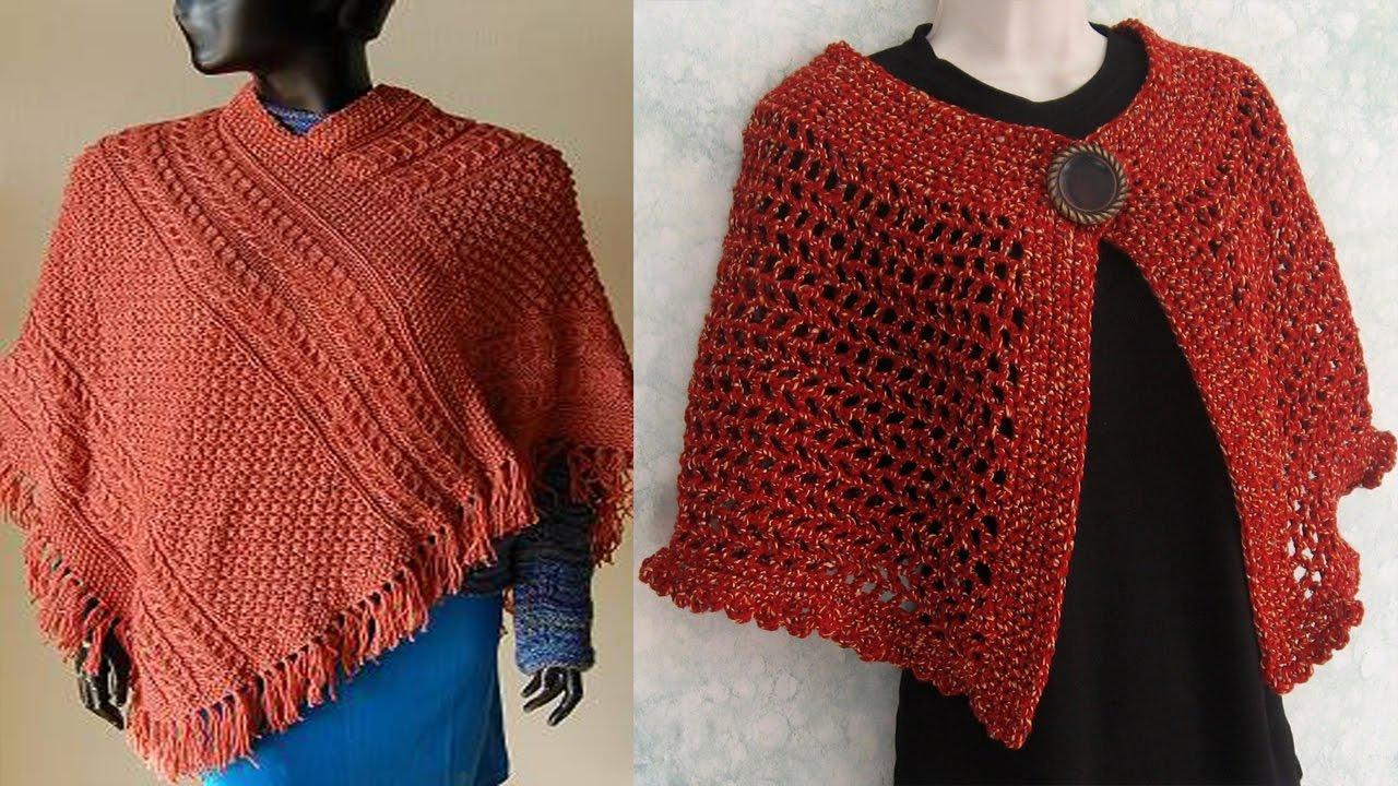 Poncho Para Mujer Tejido en Crochet - YouTube