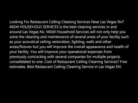 Restaurant Ceiling Cleaning Services In Las Vegas NV MGM Household Services 702 530 7597