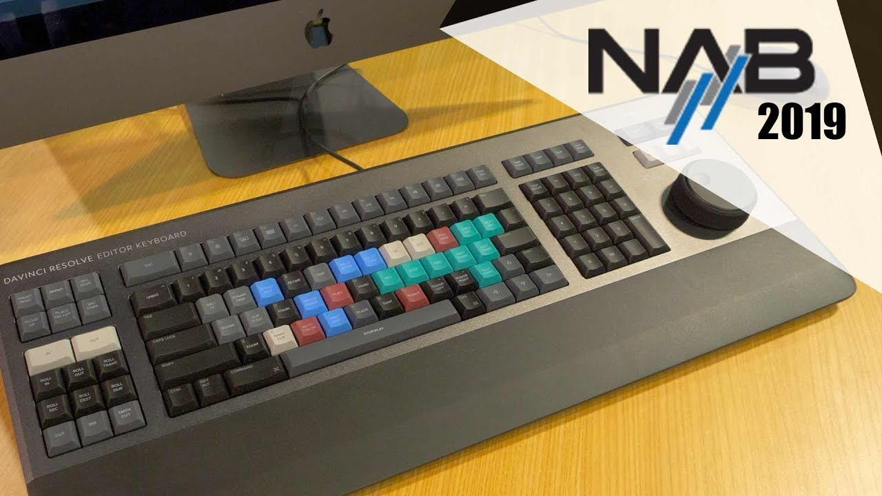 Blackmagic Editing Keyboard Nab 2019 Youtube