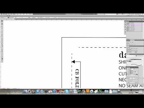 Adobe Illustrator - Pattern Making - Adding Seam Allowance damorrish.com