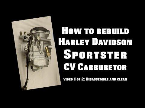 rebuild harley davidson sportster cv carburetor - video 1 of 2