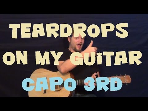 Teardrops on My Guitar (TAYLOR SWIFT) Guitar Lesson Easy Beginner Strum Chord How to Play