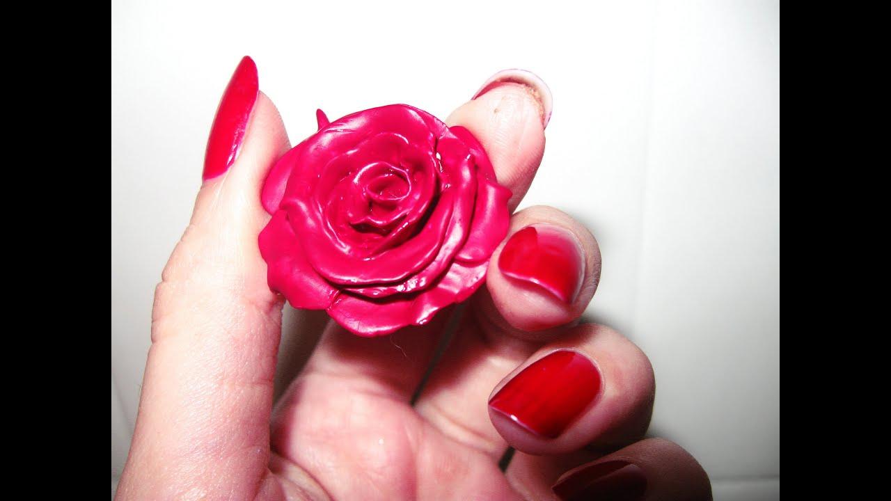 Diy como hacer una rosa realista en porcelana masilla - Como secar una rosa ...