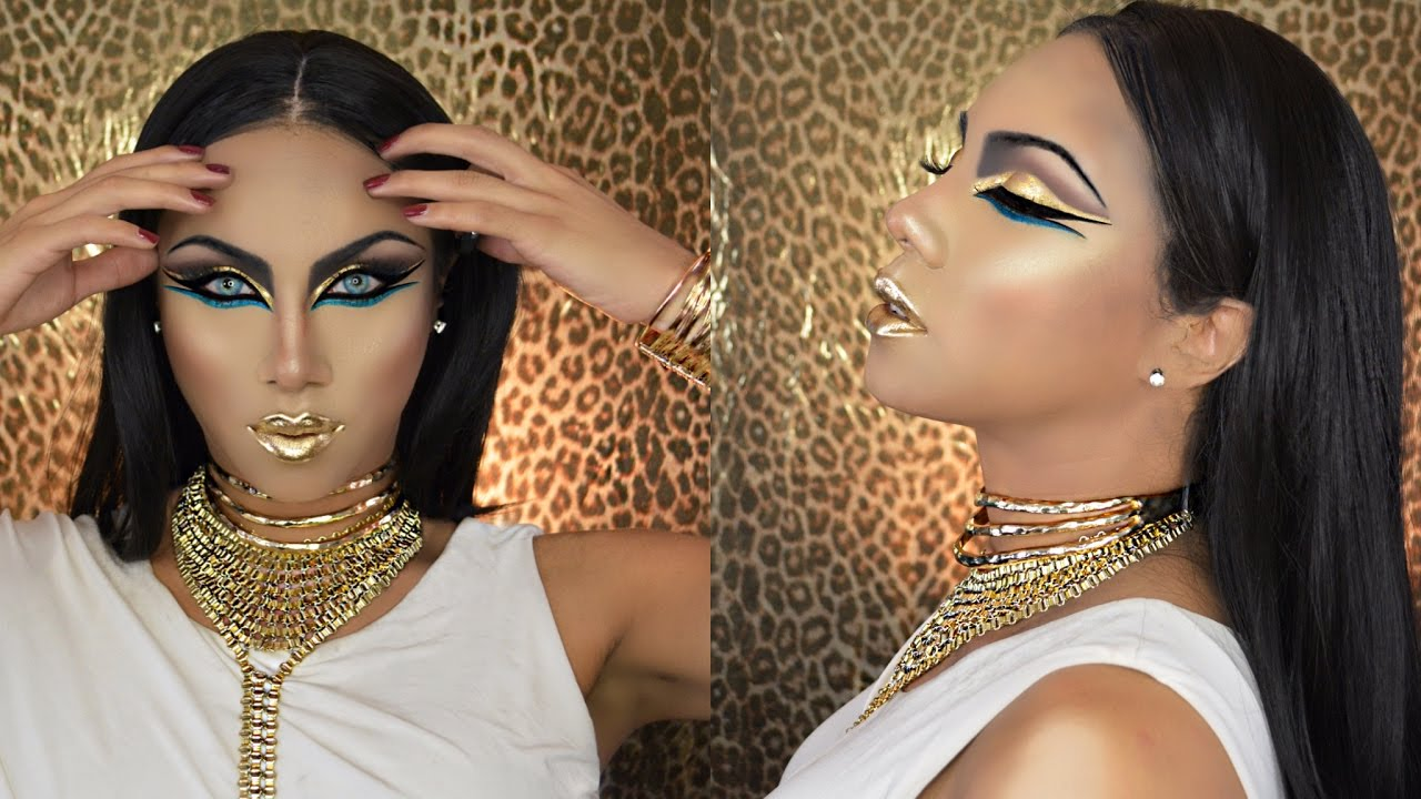 Egyptian Goddess Halloween Makeup Tutorial Youtube
