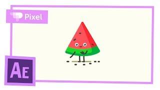 Простая анимация арбуза в After Effects | уроки для новичков