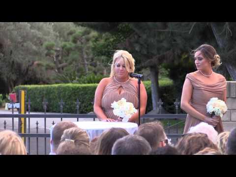 California Wedding Videographer, The Wedding Ceremony of Brandon & Whitney DiPinto, October 25, 2014