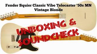 Fender Squier Classic Vibe Telecaster '50s MN Vintage Blonde - Unboxing & Soundcheck (Demo)