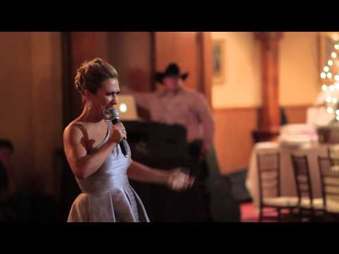 Maid of Honor sings and dances to Michael Jackson's Thriller - Wait or fast forward to the END!
