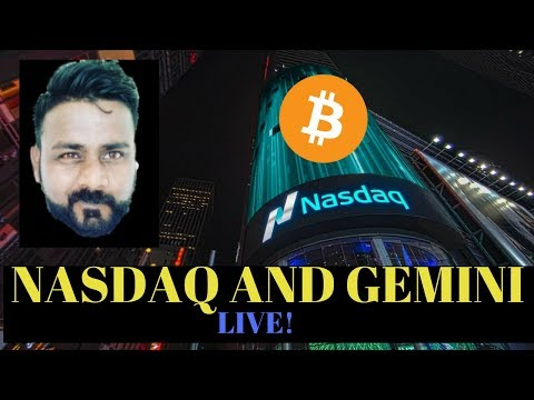 NASDAQ PARTNERS WITH BITCOIN EXCHANGE GEMINI TO PROVIDE TECH SUPPORT
