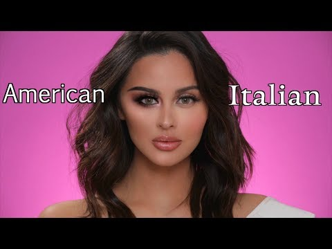 American VS Italian Makeup Tutorial 2018