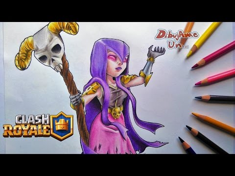 Como Dibujar A La BRUJA De Clash Royale. How To Draw The WITCH From Clash Of Clans (TUTORIAL)