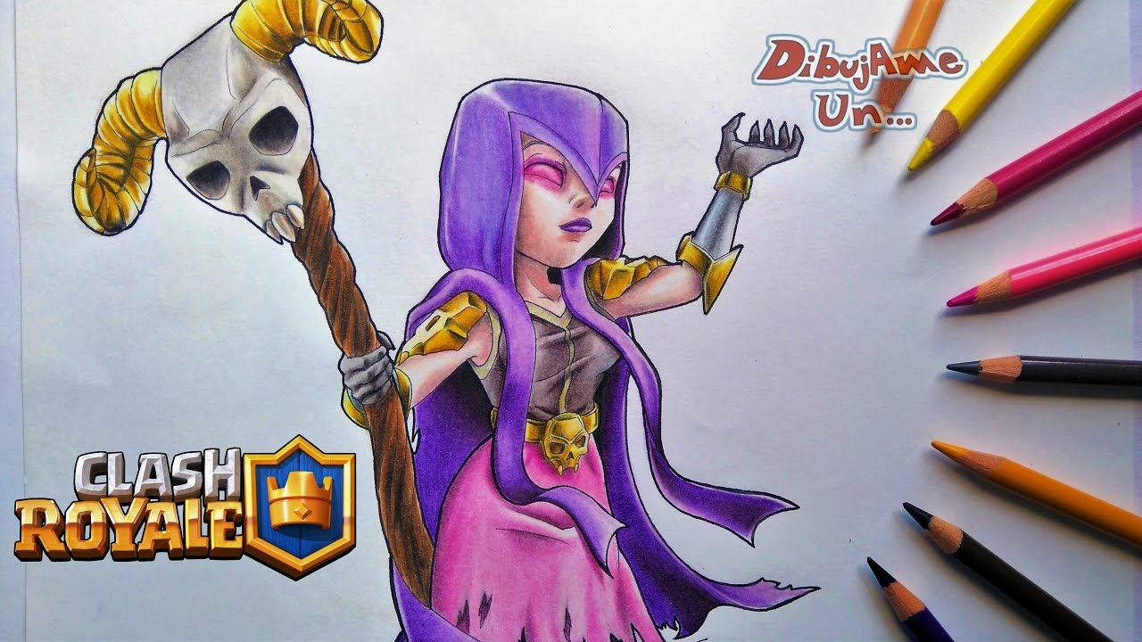 Como Dibujar a la BRUJA de Clash Royale. How to Draw the WITCH from ...