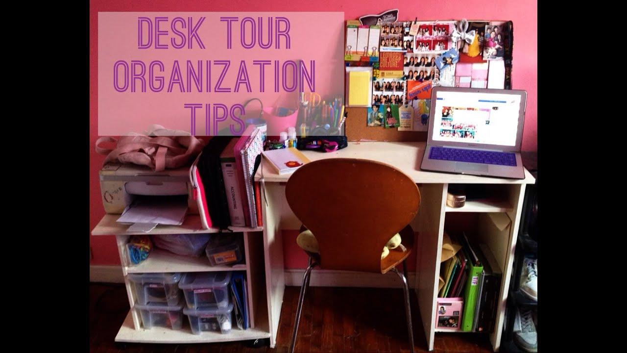 Back to school desk tour organization tips 2013 youtube - School desk organization ideas ...