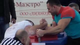 armwrestling. Хаджимурат Золоев- Рустам  Бабаев. первый финал Лотошино 2017