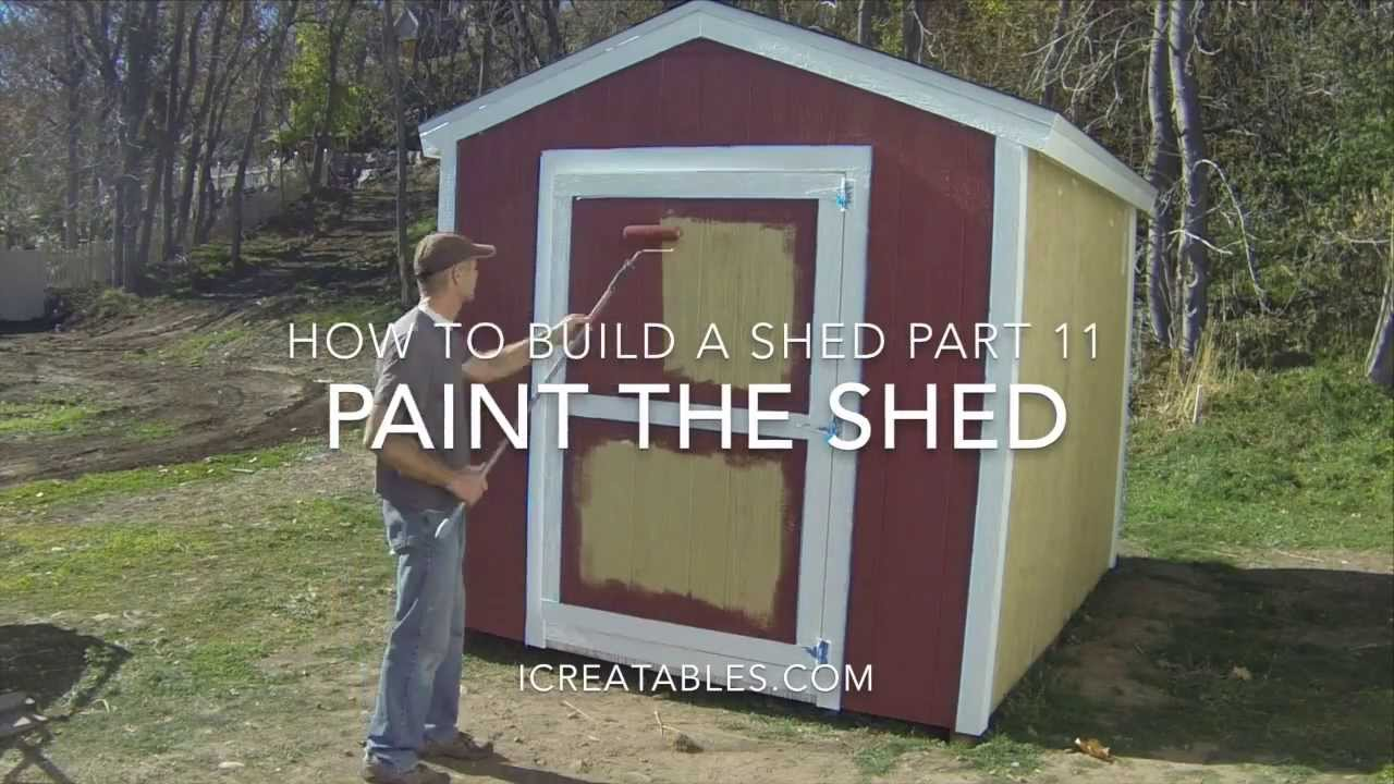 How To Build A Shed Part 11 How To Paint A Shed Youtube
