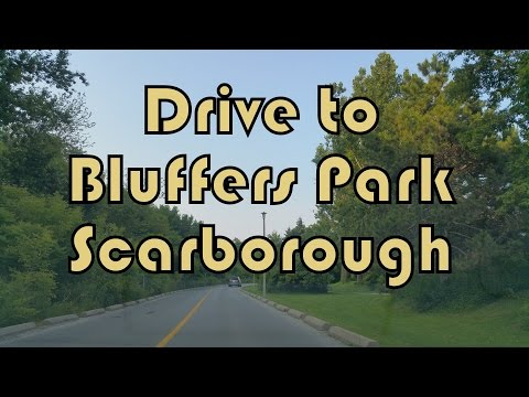 Drive from Toronto to Bluffers Park Scarborough, Canada