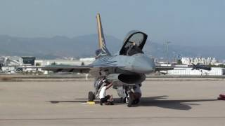 SOLO DISPLAY Belgium Air Force General Dynamics SABCA F-16AM Fighting Falcon FA-123 At Malaga LEMG