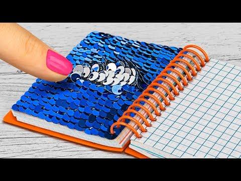 15 DIY Mini Schulsachen, Die Wirklich Funktionen / Mini Anti-Stress Schulbedarf