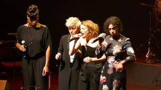 "Sandra Nkaké, Jeanne Added, Raphaele Lannadère, Camélia Jordana ""Love Came Here"" (Lhasa) Paris 2017"