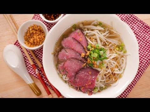 Thai Beef Noodle Soup ก๋วยเตี๋ยวเนื้อน้ําใส | Thai Recipes
