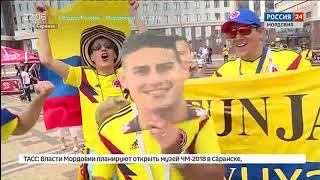 В Саранске перед матчем Япония Колумбия фанаты устроили настоящий праздник