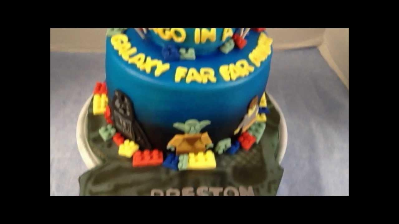 Star Wars Lego Decorations Star Wars Lego Cake Youtube