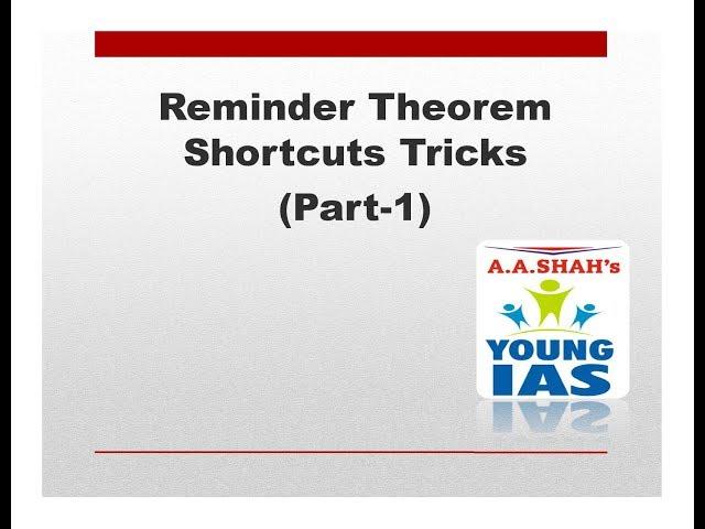 Remainder Theorem Shortcuts Tricks (PART 1) | Maths Remainder Problems in Number System
