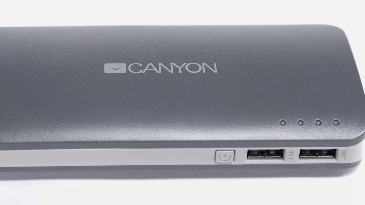 Ультраёмкий внешний <b>аккумулятор Canyon</b> на 13000 мАч ...