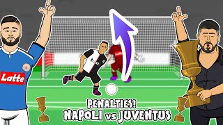🏆PENALTY SHOOT-OUT! Napoli vs Juventus🏆 (Coppa Italia Final 2020  Parody Highlights Danilo Meret)