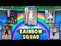 EVERY CARD IN THIS SQUAD IS A DIFFERENT TIER  RAINBOW SQUAD  NBA 2K18 MYTEAM SQUAD BUILDER CHALLENGE