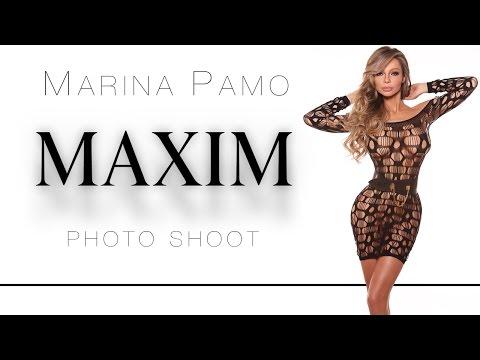 Marina Pamo, BTS, Maxim Magazine photoshoot