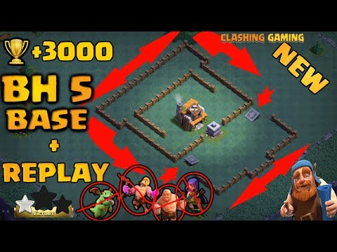New Builder Hall 5 Base (BH5) + Defense Replay / BH5 Base Layout | Clash of Clans