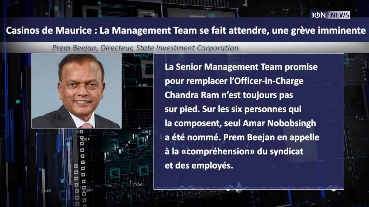 Casinos de Maurice  : La Management Team se fait attendre, une grève imminente
