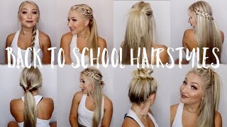 12 Back to School Hairstyles! | Under 5 Minutes