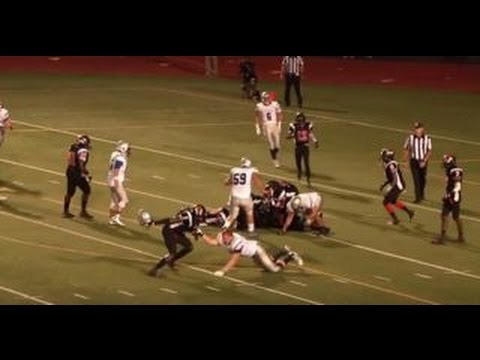 High School Football Player Hits Another Player In The ...