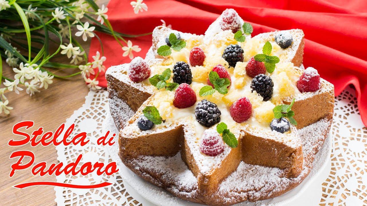 Torta Con Stella Di Natale.Stella Di Pandoro Con Mousse Al Mascarpone Fatto In Casa Da Benedetta Rossi