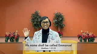 His name shall be called Emmanuel