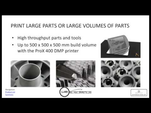 Manufacturing the Future with Direct Metal 3D Printing DMP Technologies webinar