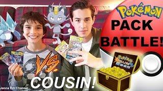 Pokemon Pack Battle: VS. My Cousin! Jenna Em