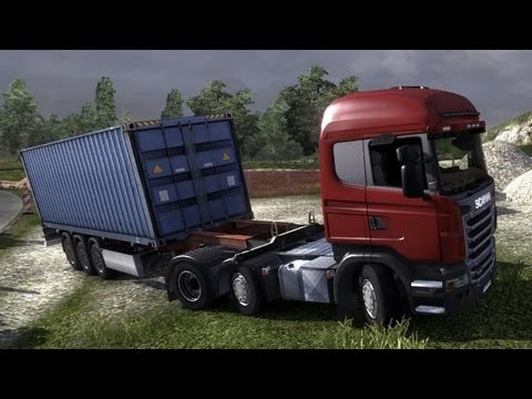 Euro Truck Simulator 2 - Scania R500 Highline with a Container Trailer