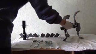Как собрать культиватор на мотоблок Ока(Обучающее видео о том как собрать культиватор для мотоблока Ока своими руками Инструменты Ключи для крепл..., 2016-04-29T17:12:36.000Z)
