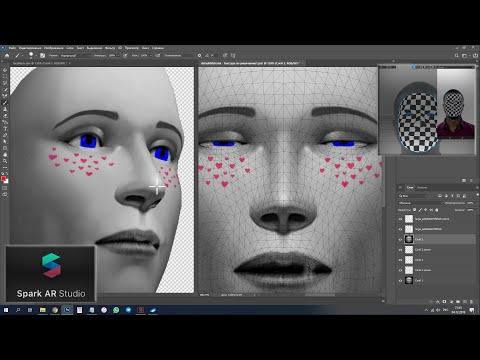 Spark AR - как точно рисовать по лицу, создаём маску с разрисовкой по лицу
