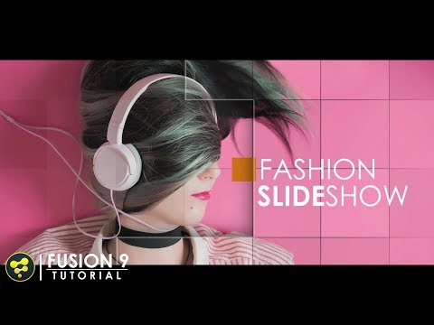 Clean Fashion Slideshow | BlackMagic Fusion 9 Tutorial