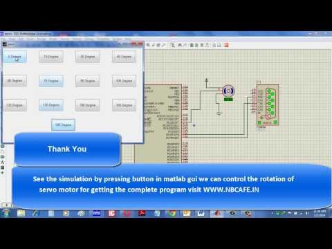 Servo motor control by Microcontroller PIC16f877 and MATLAB