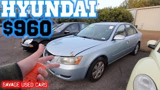 Would You Buy a Hyundai Sonata for $960 CASH ?!?! ( You Know it Needs a Motor! )