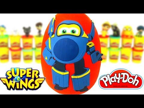 Huevo Sorpresa Gigante de Jerome de Super Wings en Español de Plastilina Play Doh