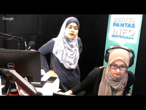 Hanie Hamid & Ziana Nasir di Bernama Radio 041017