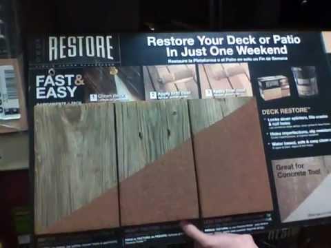 home depot deck paint Restore Liquid Armor Deck Resurfacer   Home Depot   YouTube home depot deck paint